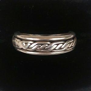 VINTAGE 925 Sterling Silver Spinner Ring